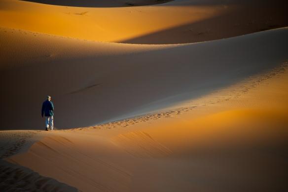 deseert sands walking away