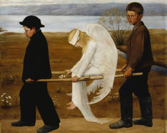 The Wounded Angel, 1903, by Hugo Simberg2