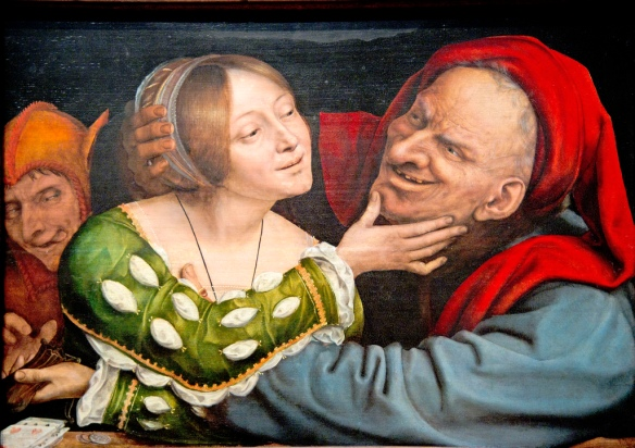 Quentin Massys, Netherlandish, Ill-Matched Lovers, c. 1520-1525