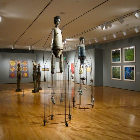 artists Troy Dugas, Melissa Bonin, Lisa Osborn, Linda Dautreuil, Amy Guidry, and Marjorie Pierson