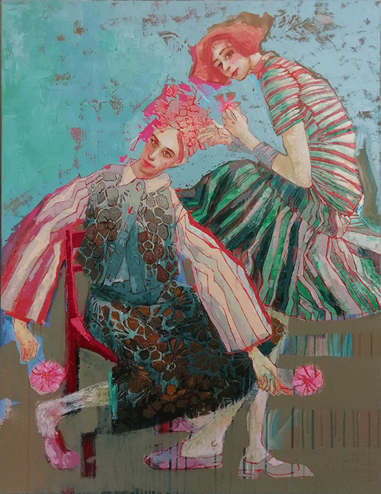 secret garden, lilas blano, 2018, oil on canvas