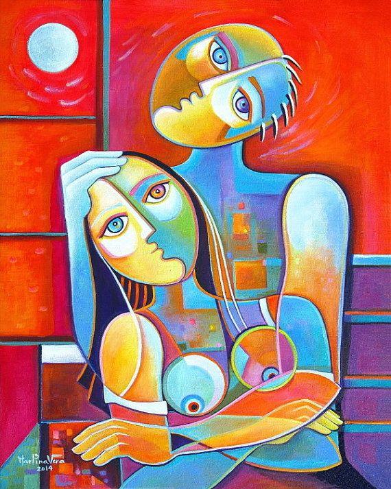 acrylic-painting-canvas-24x30-couple-in-love-marlina-vera